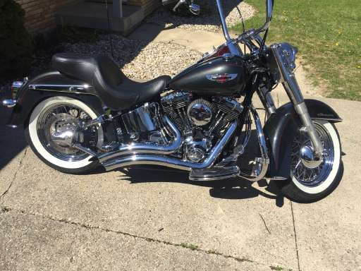Indiana - Harley--Davidson SOFTAIL DELUXE Clic----Vintage ...