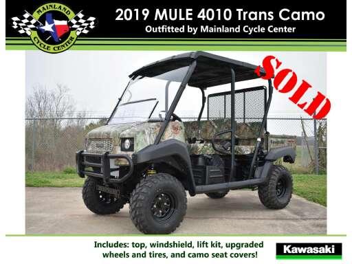 79 Kawasaki Mule 4010 Trans4x4 Camo Atvs For Sale Cycle Trader