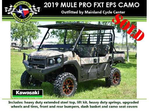 La Marque Tx 2019 Mule Pro Fxt Eps Camo For Sale
