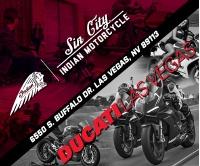 Sin City Indian Motorcycle I Ducati Las Vegas Logo